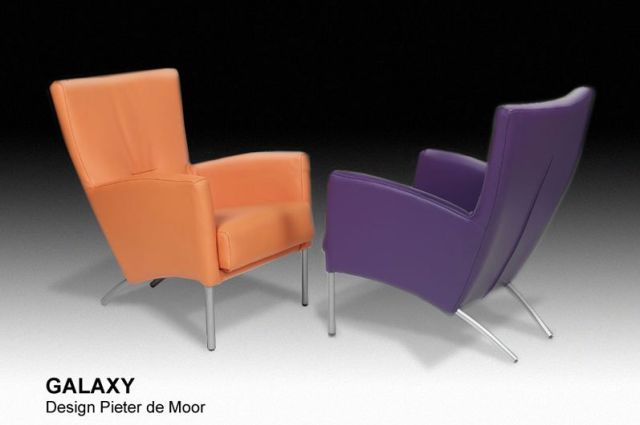 Paarse Draai Fauteuil.Moderne Fauteuil Galaxy