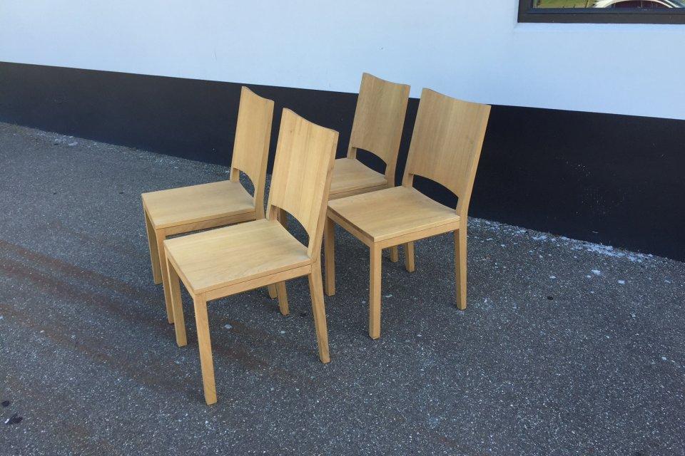 probilex massief eiken stoelen uitverkoop